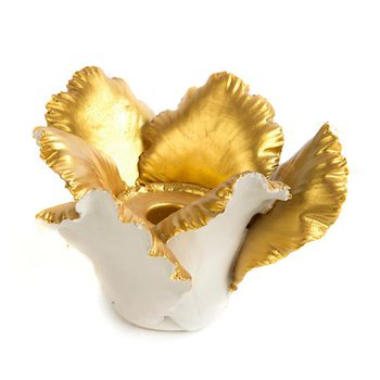 Daffodil Candle Holder-Ivory & Gold