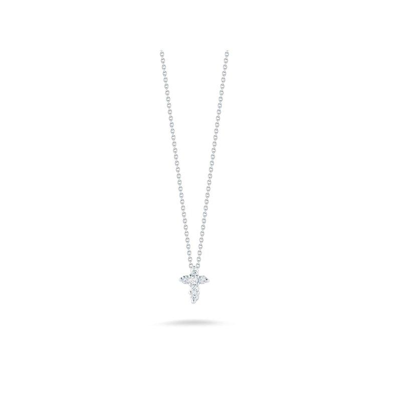 Roberto Coin Diamond Cross Pendant Necklace