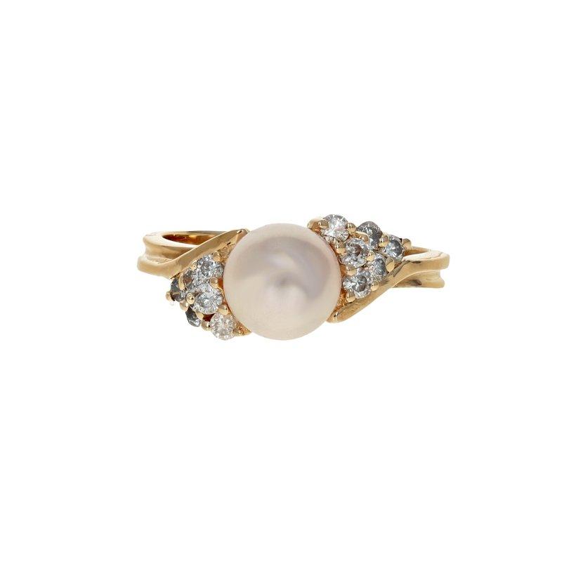 Estate Radcliffe Pearl & Diamond Ring