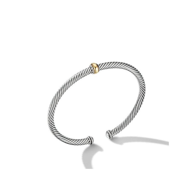 David Yurman Cable Classics Center Station Bracelet with 18K Yellow Gold