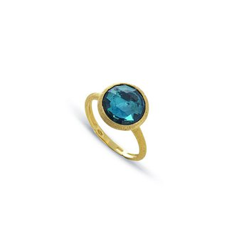 Jaipur Color Collection 18K Yellow Gold London Blue Topaz Ring