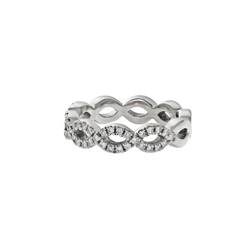 Estate Radcliffe Half Diamond Infinity Ring