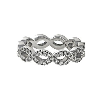Half Diamond Infinity Ring