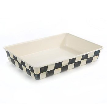 "Courtly Check Enamel Baking Pan- 9"" x 13"""