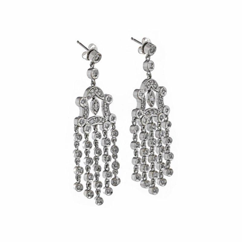 Estate Radcliffe Chandelier Daimond Earrings
