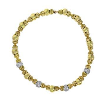 Beaded Diamond Collar Necklace