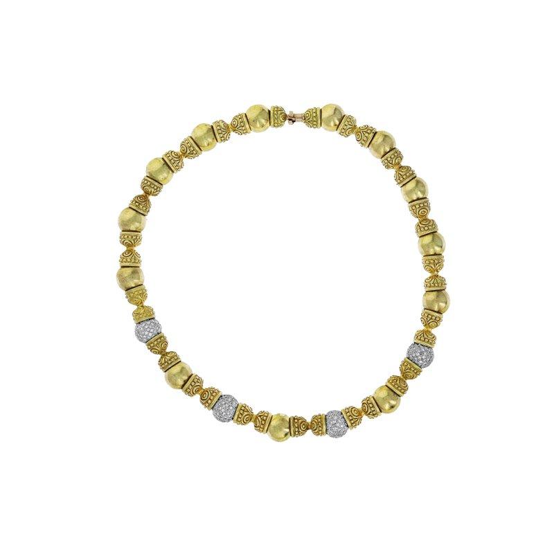 Estate Radcliffe Beaded Diamond Collar Necklace