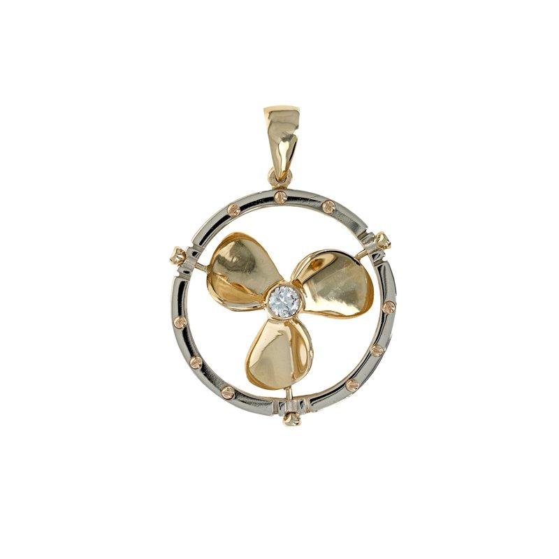 Estate Radcliffe Diamond Propeller Pendant
