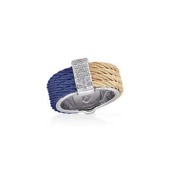 Blueberry & Carnation  Colorblock Ring