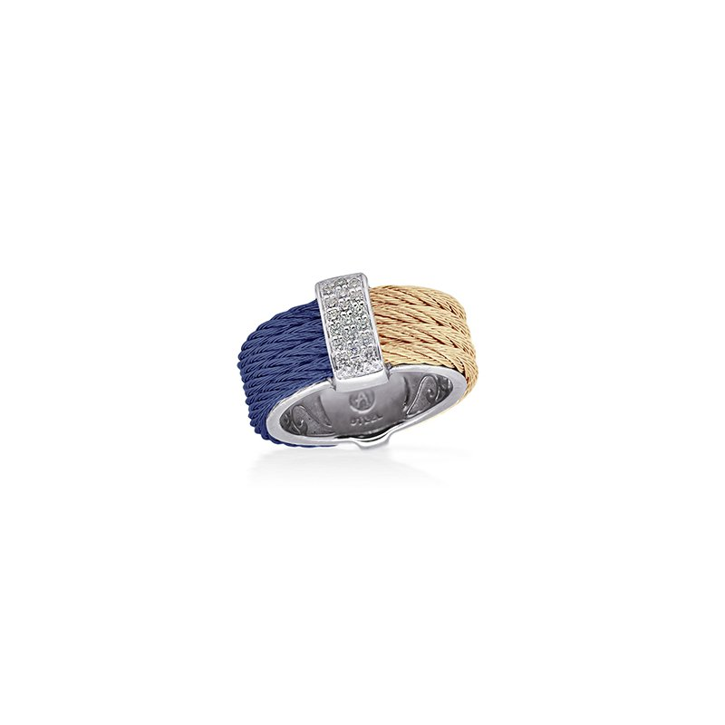 ALOR Blueberry & Carnation  Colorblock Ring