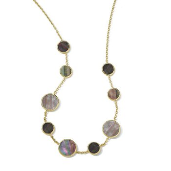 Polished Rock Candy Black Shell Necklace
