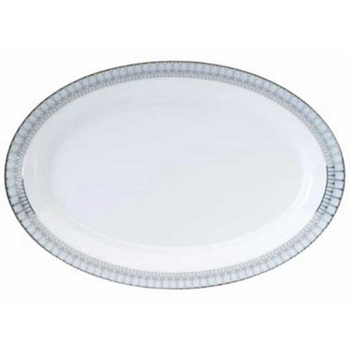 Arcades Grey & Platinum Oval Platter