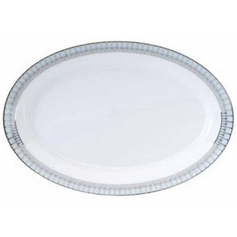 Philippe Deshoulieres Arcades Grey & Platinum Oval Platter