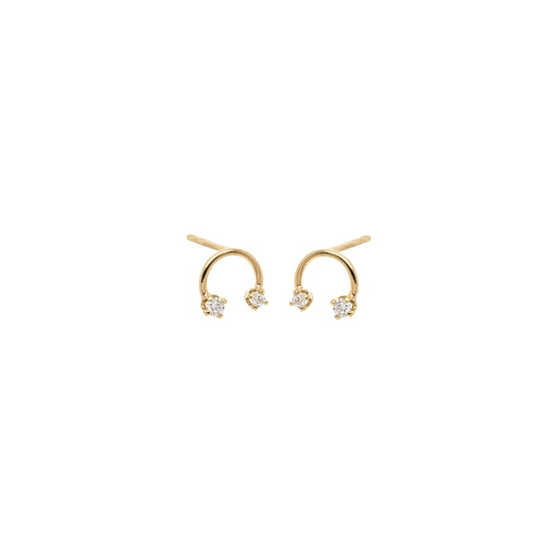 Zoe Chicco Open Circle Diamond Earrings