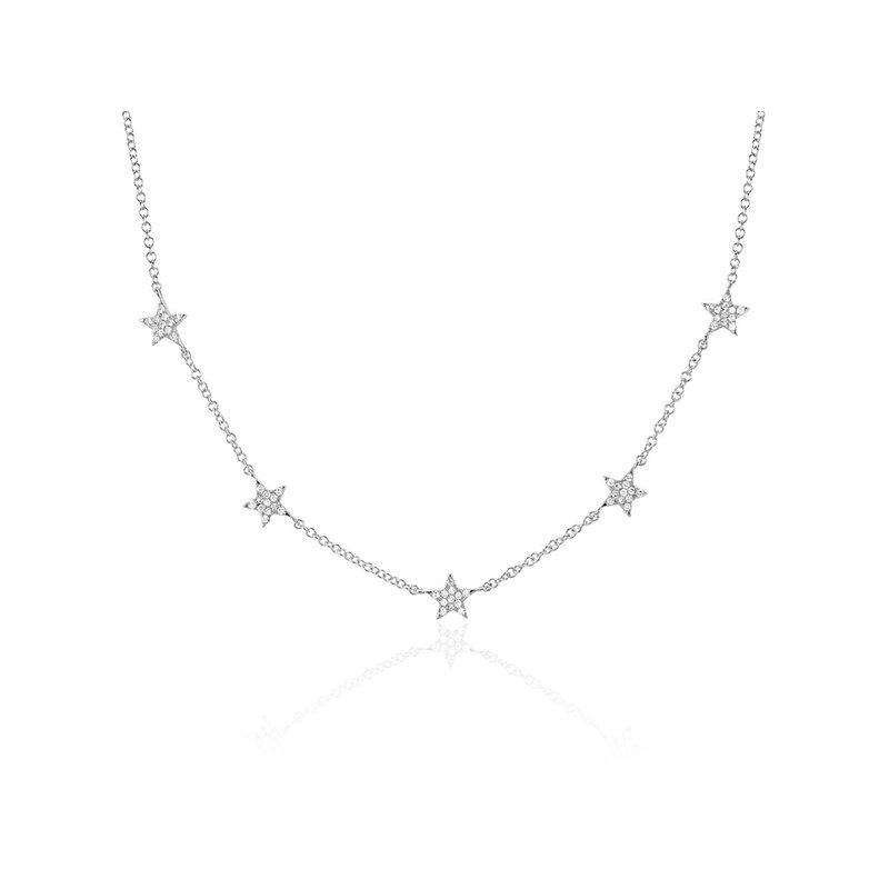 EF Collection Diamond 5 Mini Star Necklace