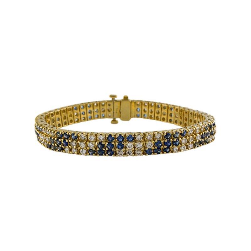 Estate Radcliffe Sapphire & Diamond Bracelet