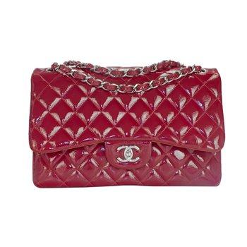 Red Jumbo Double Flap Bag