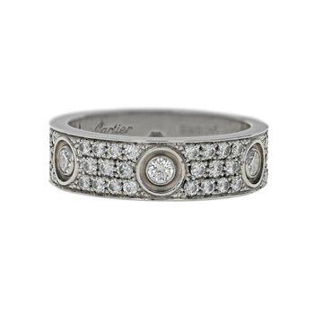 Pave Diamond Love Ring