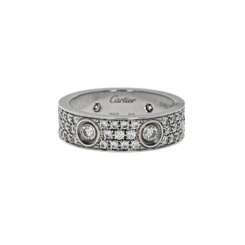 Estate Cartier Pave Diamond Love Ring