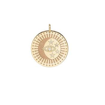 Single Medium Celestial Protection Medallion Charm