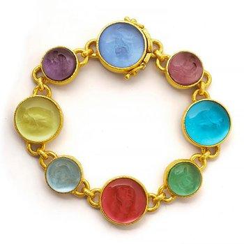 Venetian Glass Intaglio Bracelet