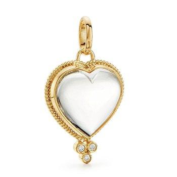 Rock Crystal Heart Pendant