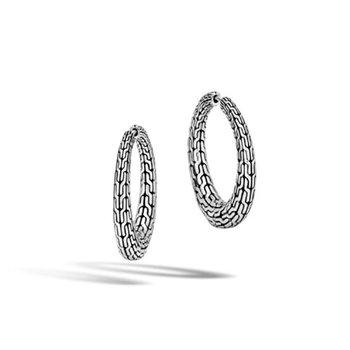 Classic Chain Graduated Small Hoop Earrings