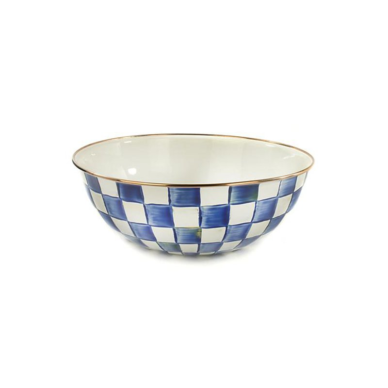 Mackenzie-Childs Royal Check Everyday Bowl-Extra Large