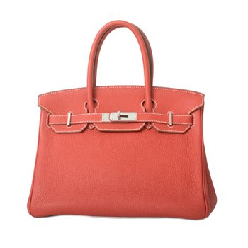 30cm Red / White Birkin Bag