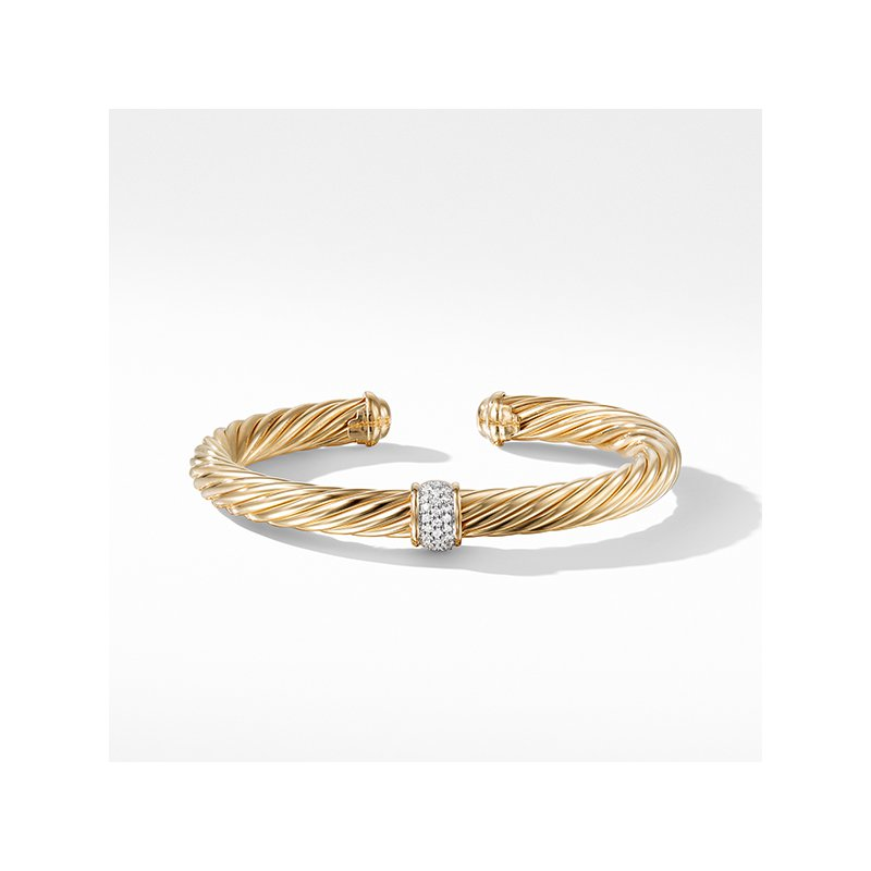 David Yurman Bracelet with Diamonds in Gold