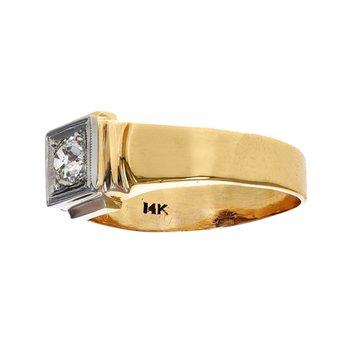 Gent's Solitaire Diamond Ring
