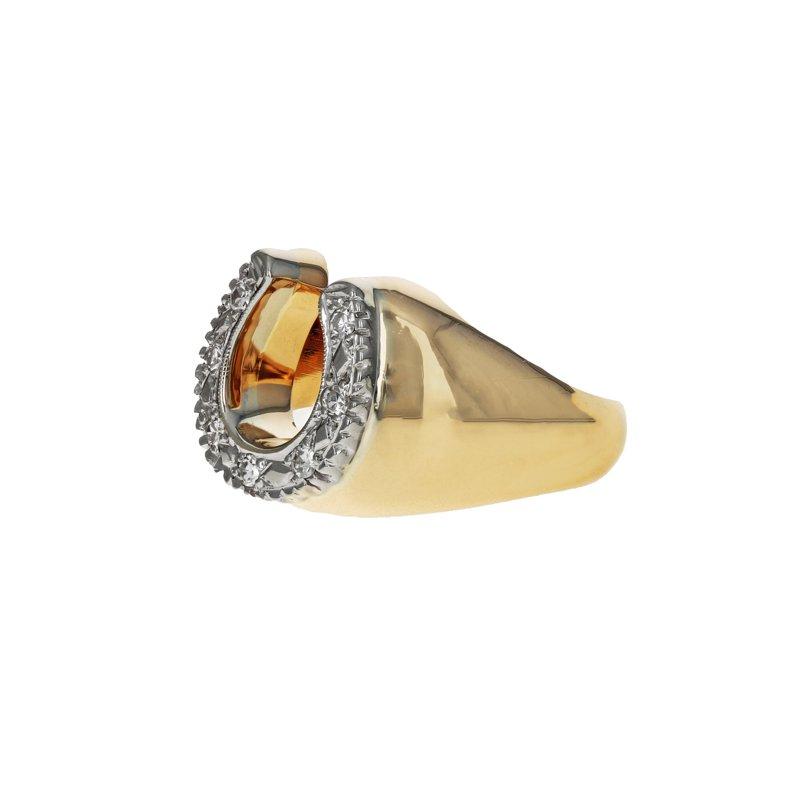 Estate Radcliffe Diamond Horseshoe Ring