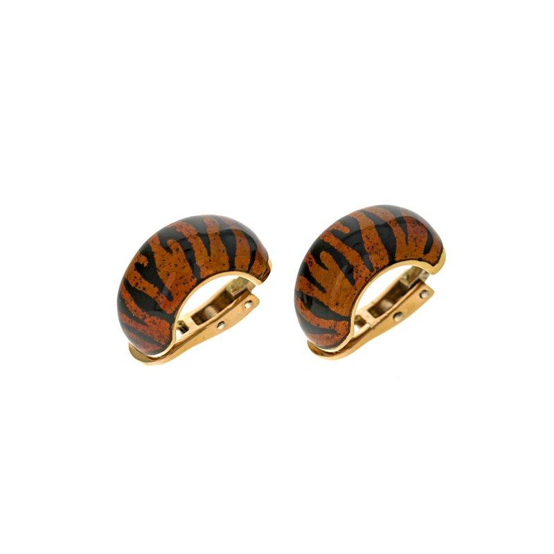 Estate Soho Jewelry Enamel Earrings