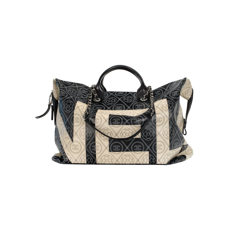 CHANEL Deauville Camellia Shoulder Bag