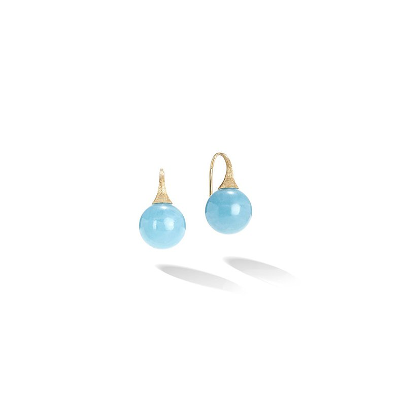 Marco Bicego Africa Boule Collection Aquamarine French Wire Earrings