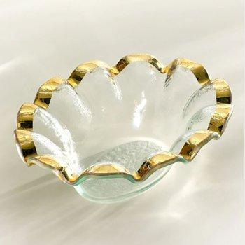Gold Ruffle Dip Bowl