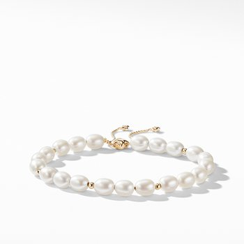 Spiritual Bead Bracelet with Pearls and 18K Gold