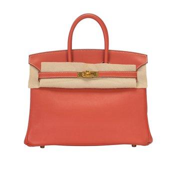 25cm Rouge Tomatoe Birkin Bag