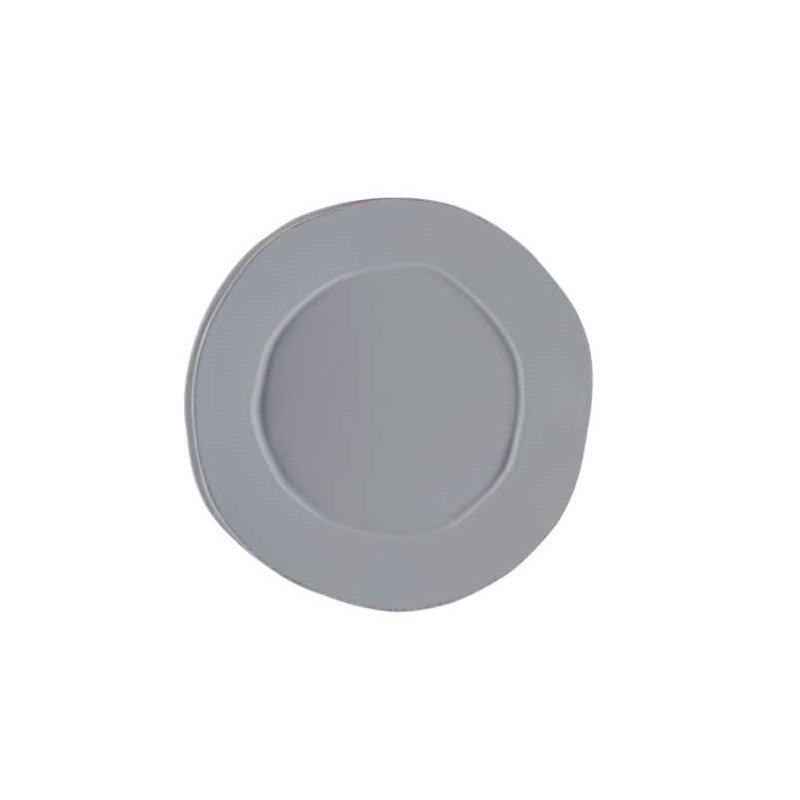 Vietri Lastra Gray Round Platter