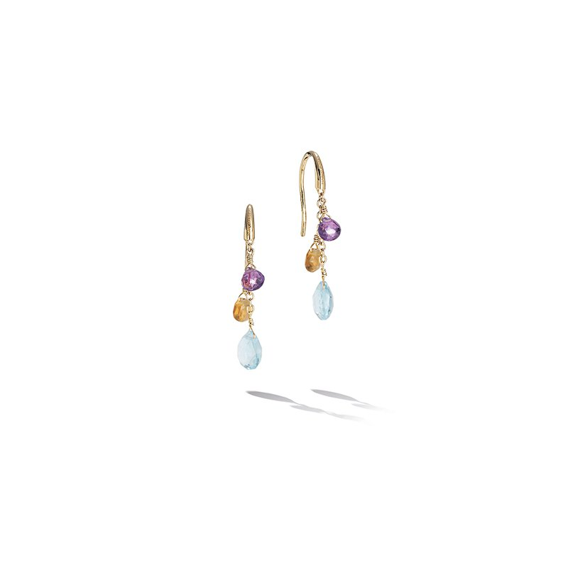 Marco Bicego Paradise Collection Mixed Topaz Small Drop Earrings