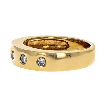 Burnished Set Diamond Ring