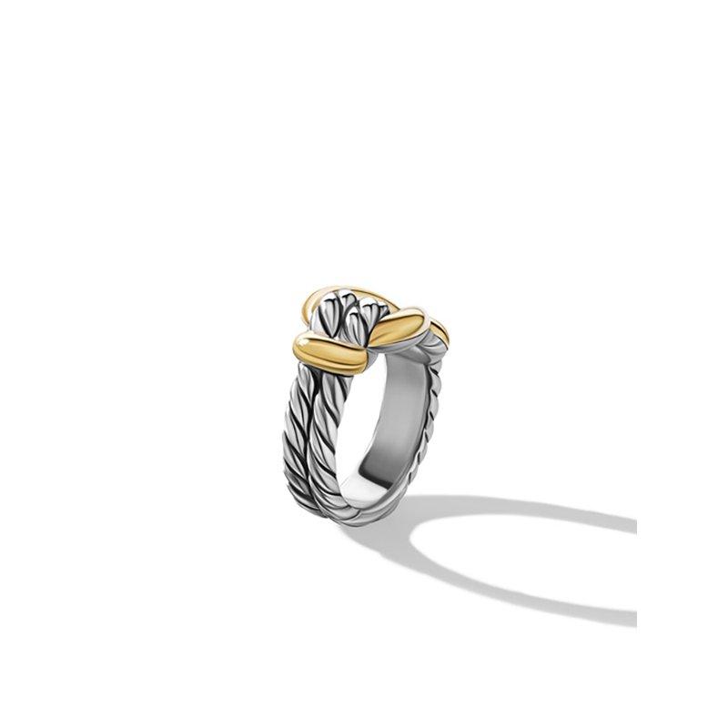 David Yurman Thoroughbred Loop Ring with 18K Yellow Gold