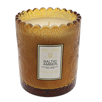 Baltic Amber Boxed Scallop Candle