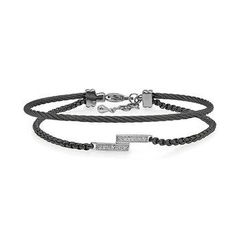 Black Chain & Cable Intermix Bracelet