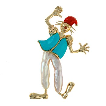 Dancing Clown Pin