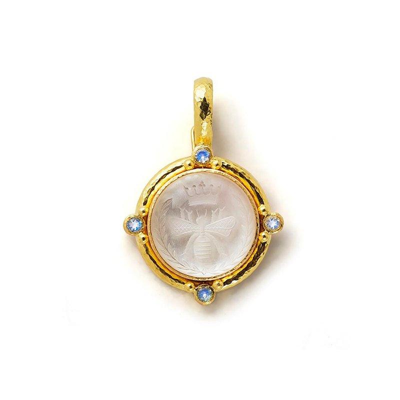 "Elizabeth Locke Rock Crystal ""Queen Bee"" Pendant"