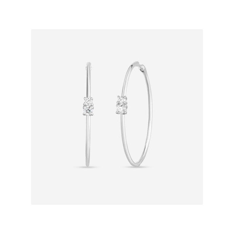 Roberto Coin Hoop Earrings with Diamonds