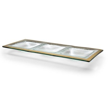 Roman Antique Gold 3 Section Tray