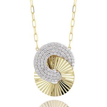 Large Interlocking Aura Necklace