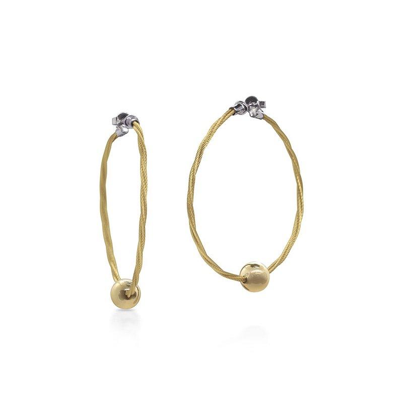 ALOR Yellow Cable Hoop Earrings